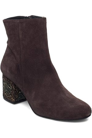 ANGULUS Bootie - Block Heel - With Zippe Shoes Boots Ankle Boots Ankle Boot - Heel