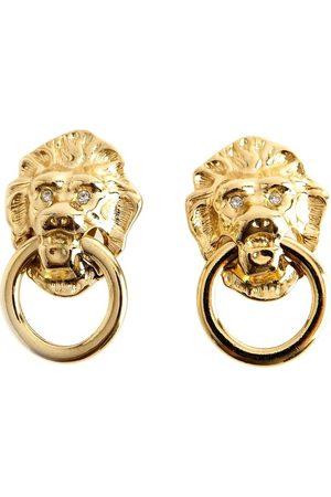 Kenneth Jay Lane Dame Ørepynt - Lion Ring Clip Earrings