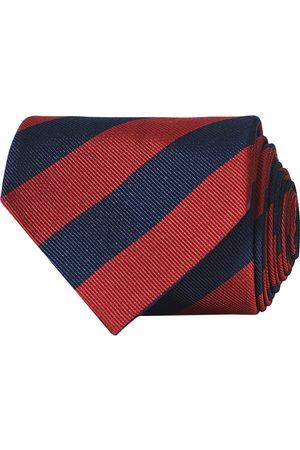 Amanda Christensen Herre Slips - Regemental Stripe Classic Tie 8 cm Wine/Navy