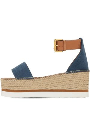 See by Chloé Dame Wedges - 80mm Glyn Leather Wedges