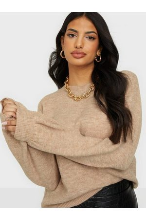 Pieces Pcperla Ls Knit Noos Bc Warm Taupe