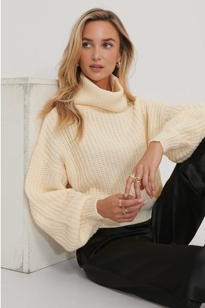 NA-KD Dame Pologensere - High Neck Short Knitted Sweater