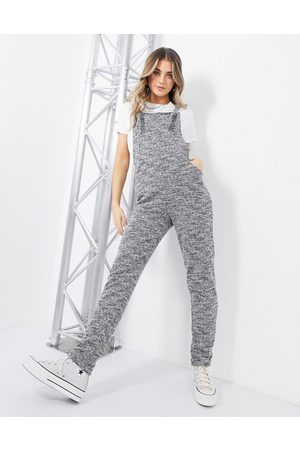 ASOS Jersey casual dungaree in mono boucle-Multi