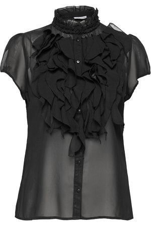 Saint Tropez Lillysz Ss Shirt Blouses Short-sleeved Blå