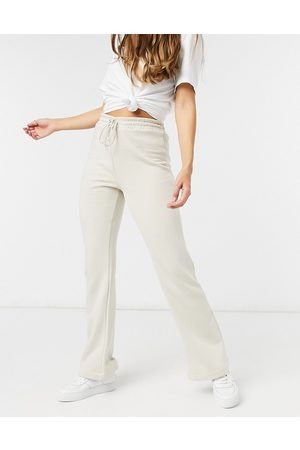 Lindex Rose brushed cotton lounge flare jogger in