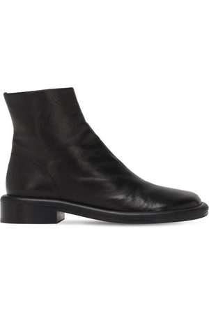 Proenza Schouler 30mm Leather Ankle Boots