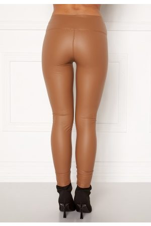 John Zack Faux Leather PU Legging Camel M (UK12)