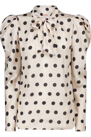 JOHANNA ORTIZ The Big Dream polka-dot satin blouse