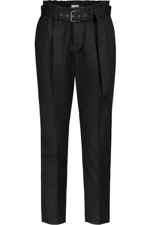 Brunello Cucinelli Mid-rise stretch-cotton slim pants