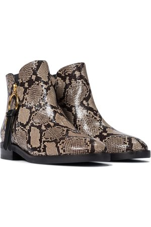 Chloé Louise snake-effect leather ankle boots
