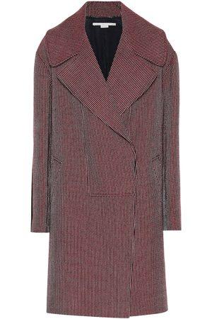 Stella McCartney Houndstooth check wool coat