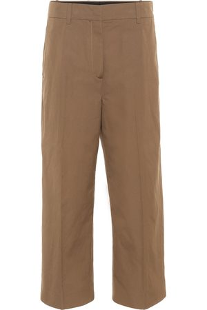Prada Cropped high-rise cotton pants