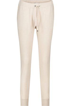 Brunello Cucinelli Embellished cashmere trackpants