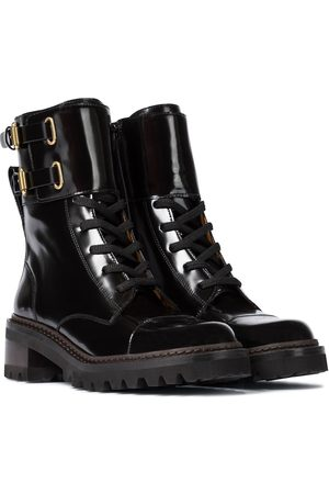 Chloé Mallory leather ankle boots