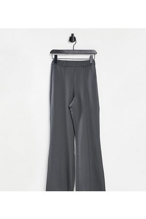 Reclaimed Vintage Inspired high waist flare trouser in grey