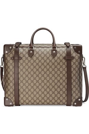 Gucci Herre Kofferter - Suitcase with leather details