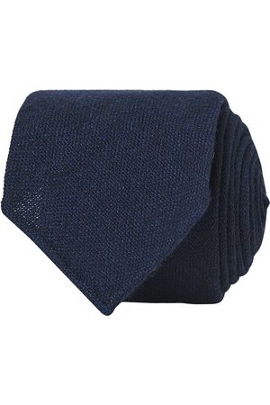Drake's Herre Slips - Cashmere 8 cm Tie Navy