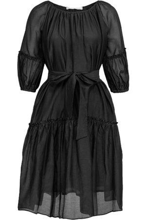 Cathrine hammel Sheer Midi Short Sleeve Dress