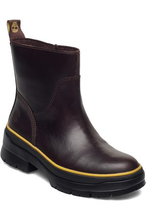 Timberland Dame Skoletter - Malynn Wmlinesdzipwpmdbrn Shoes Boots Ankle Boots Ankle Boot - Flat