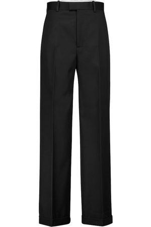 Bottega Veneta Wide-leg wool twill pants