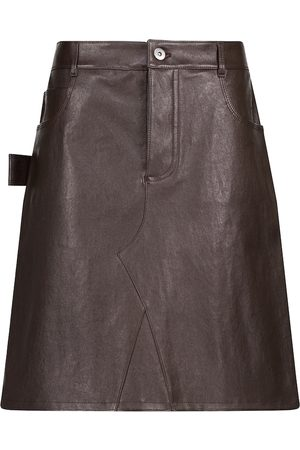 Bottega Veneta Leather miniskirt