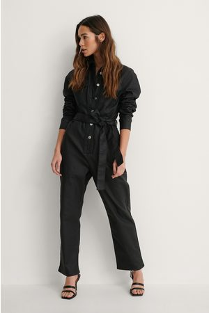 NA-KD Coated Jumpsuit I Denim