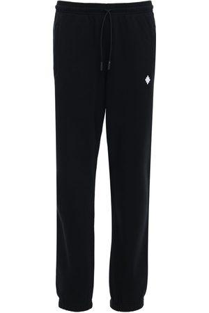 MARCELO BURLON Cross Embroidery Jersey Sweatpants
