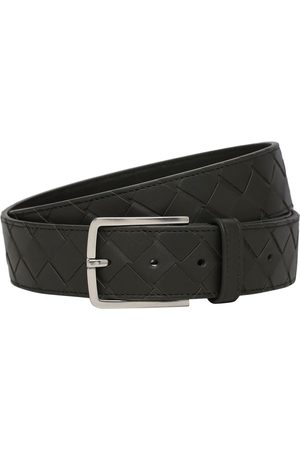 Bottega Veneta 3.5cm New Intreccio Buckle Leather Belt