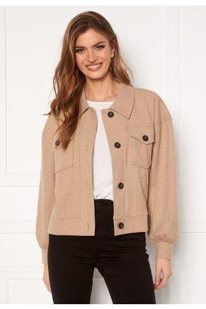 Vero Moda Dame Vårjakker - Asha L/S Overshirt Jacket Silver Mink XL