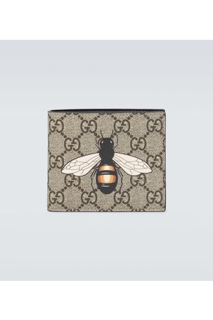 Gucci Bee printed GG Supreme wallet