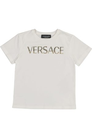 VERSACE Logo stretch-cotton T-shirt