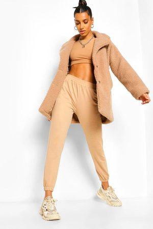 Boohoo Dame Pelsjakker - Button Through Teddy Faux Fur Coat
