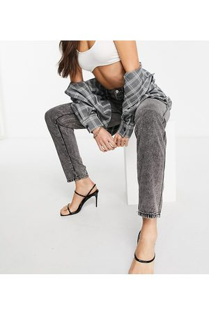 Missguided Dame Mom - Mom jean in grey acid wash