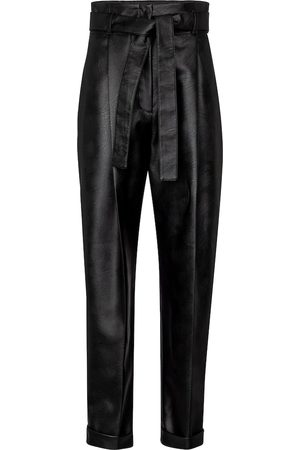 Serafini High-rise faux leather tapered pants