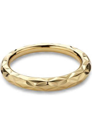 Jane Kønig Small Impression Ring, gold-plated sterling silver