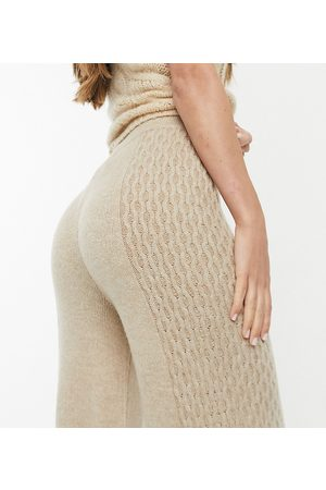M Lounge Relaxed trousers in cable knit co-ord