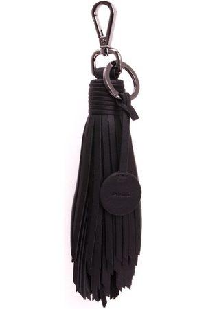 Dark Leather KEY Tassel Nappa W/gun Metal
