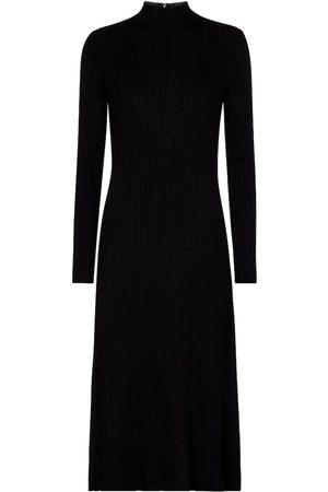 Vince Ribbed-knit midi dress