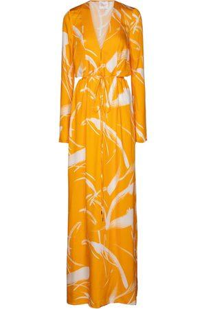 GALVAN Lido printed jersey maxi dress