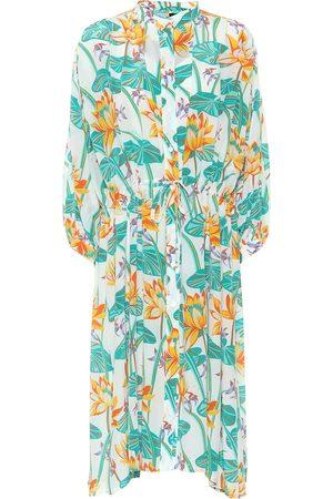 Loewe Paula's Ibiza printed silk shirt dress