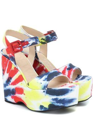 Loewe Paula's Ibiza tie-dye canvas wedge sandals