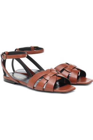 Saint Laurent Tribute leather sandals