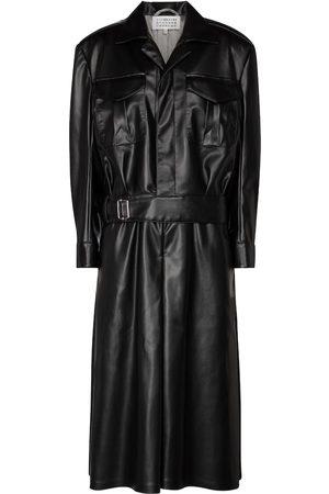 Maison Margiela Faux leather midi dress