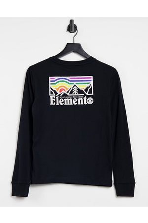 Element Landscape long sleeve t-shirt in black