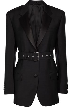 Prada Belted mohair and wool blazer