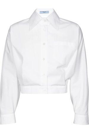 Prada Cropped cotton shirt