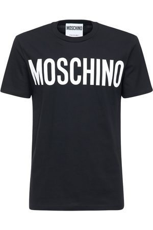 Moschino Logo Print Cotton Crewneck T-shirt