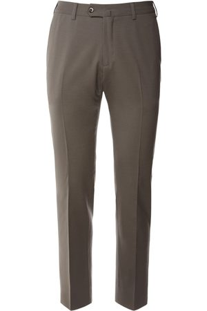 Loro Piana 18cm Flat Slim Wool Bistretch Pants