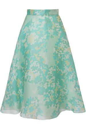 Emilio Pucci Dame Midiskjørt - Printed Silk Organdy Midi Skirt