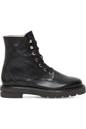 Stuart Weitzman 30mm Mila Lift Leather Ankle Boots